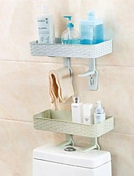 cheap -2PCS Bathroom Above The Toilet Rack The Toilet Bathroom Wall Hanging Multi-function Punch-free Vanity Toilet Storage Shelf