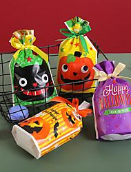 cheap -50pcs Halloween Drawstring Drawstring Bag Biscuit Candy Bag Food Baking Drawstring Plastic Bag Packaging