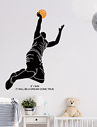cheap -Basketball Player Wall Stickers Bedroom Living Room Removable Pre-pasted PVC Home Decoration Wall Decal 1pc