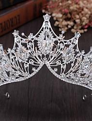 cheap -Bridal Crown Headdress Super Fairy Wedding Accessories Princess Birthday Crown Atmospheric Handmade Crystal Beaded Headband Jewelry