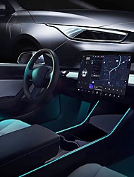 cheap -For Tesla Model 3 Model Y Interior Neon Lights Model 3/Y Accessories Car Decor RGB Ambient Led Strip Lights With App Controlled