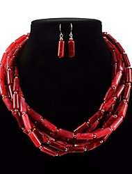 cheap -necklace two-tone cylindrical necklace exaggerated african style jewelry