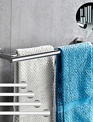 cheap -Towel Bar Bathroom Shelf Adjustable Length New Design Creative Contemporary  Modern Stainless Steel  Low-carbon Steel Metal,1pc Bathroom Double 2-tower bar Wall Mounted