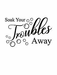 cheap -soak your troubles away bathroom vinyl art wall sticker removable cute bubbles decal home background decor