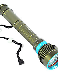cheap -LED Flashlights / Torch Diving Flashlights / Torch Handheld Flashlights / Torch Waterproof 10000 lm LED Emitters 1 Mode Waterproof Camping / Hiking / Caving Diving / Boating Hunting / IPX-8