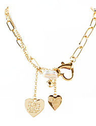 cheap -fashion jewelry gold box chain alloy heart pendant necklace punk style necklace
