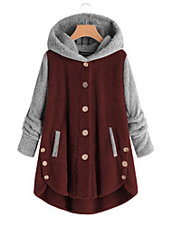 cheap -Women's Teddy Coat Home Causal Indoor Fall Winter Short Coat Loose Warm Active Casual Jacket Long Sleeve Solid Color Split Pocket Contact customer service for pictures without watermark Source