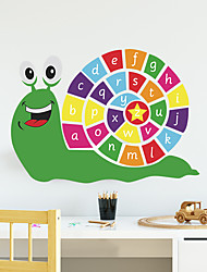 cheap -Animals Cartoon Wall Stickers Study Room Kids Room Kindergarten Removable Pre-pasted PVC Home Decoration Wall Decal 1pc