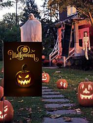 cheap -Halloween Party Garden Flag Troublemaker Terrible Linen Pumpkin Garden Cloth Decoration Banner