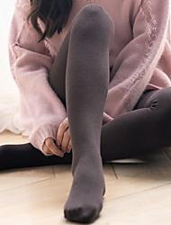cheap -Fashion Comfort Women's Socks Solid Colored Socks Tights Warm Casual Black 1 1 Pair