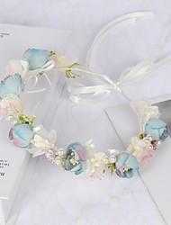 cheap -Fairy Wreath Silk Cloth Bud Pearl Headband Fresh And Versatile Photo Studio Photo Live Headdress