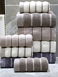cheap -1 Pc 100% Cotton Premium Ring Spun Hand Kitchen Shower Towel(Set) Machine Washable Super Soft Highly Absorbent Quick Dry For Bathroom Hotel Spa Stripe 70*140cm