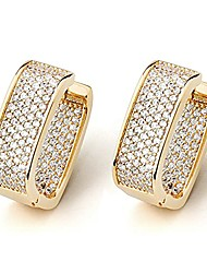 cheap -14k gold plated 925 sterling silver square shape hoop earrings, sparkle diamond cut aaaaa+ cz, yellow gold