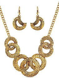cheap -Women's Jewelry Set Fashion Sweet Earrings Jewelry Gold For Wedding Gift Formal