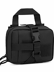 """cheap -mini tactical bag molle system first aid kit bag ifak medical utility pouch for home workplace camping travel (black - 5.1"""" x 2.4"""" x 7.1"""")"""
