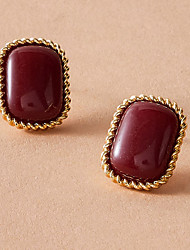cheap -Women's Earrings Vintage Style Stylish Elegant Romantic Fashion Vintage Resin Earrings Jewelry Red For Wedding Gift Prom Date Promise 1 Pair