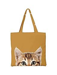 cheap -Unisex Bags Canvas 3D Top Handle Bag Zipper Animal Shopping Daily Handbags Chain Bag Blue Yellow Army Green Dusty Rose