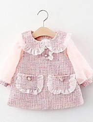 cheap -2020 autumn infant baby girls dress cute princess clothing party classical fashion pearls pocket lantern sleeve zipper outfits 902 v2