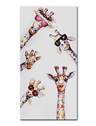 cheap -Oil Painting Handmade Hand Painted Wall Art Mintura Modern Abstract Giraffe Animal Home Decoration Decor Rolled Canvas No Frame Unstretched