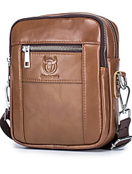 cheap -men's genuine leather messenger bag casual fashion shoulder bag top layer cowhide mobile phone small leather bag