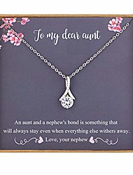cheap -aunt gifts from nephew, aunt gifts for mothers day, 925 sterling silver necklace for women, best aunt ever gifts, gift for aunts from nephew, aunt birthday gift