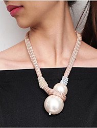 cheap -Women's Pearl Pendant Necklace Retro Flower Modern Alloy Rose Gold White Black 56 cm Necklace Jewelry 1pc For Anniversary Street Birthday Party Festival