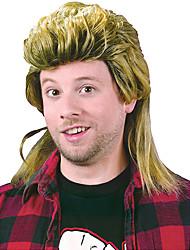 cheap -halloweencostumes 70s 80s CostumeWig Rock Wig  Fun World Men's Mullet Wig Yellow Standard