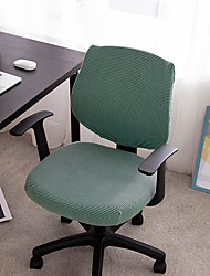 cheap -Computer Office Chair Cover Stretch Rotating Gaming Seat Slipcover Green Jacquard Elastic Soft Durable Washable