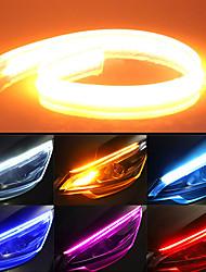 cheap -2pcs 60cm Universal Car DRL LED Strip Flexible Flowing 150 leds Turn Signal Lights Auto Angel Eyes Daytime Running Lamp Decoration Lights