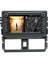 cheap -Android 9.0 Autoradio Car Navigation Stereo Multimedia Player GPS Radio 8 inch IPS Touch Screen for Toyota VIOS 2013-2016 1G Ram 32G ROM Support iOS System Carplay