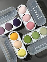 cheap -3 Pcs Set Makeup Sponge Puff Makeup Puff Healthy Latex Soft Sponge Wet And Dry Suit Bevel Makeup Tools Exquisite Plastic Box