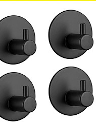 cheap -4 Packs Heavy Duty Adhesive Hooks Wall Hangers Stainless Steel Towel Hooks for Kitchen Bathroom Home Stick on Towel Hooks Round Base