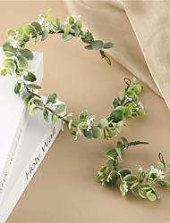 cheap -Forest Photos to Shoot Green Flowers Bride Holiday Wedding Headflower Wreath Hair Accessories