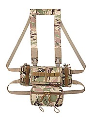 cheap -molle tactical pouch vest mk3 chest rig airsoft hunting vest with magazine pouch (color : cp)