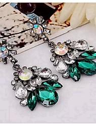 cheap -New Style Earrings European And American Fashion Retro Crystal Earrings Beautiful Drop Earrings
