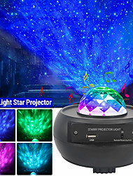 cheap -Star Galaxy Projector Light Remote Controlled Rotating LED Projector Party Wedding Bedroom Blue