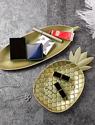 cheap -Pineapple Tray Snack Candy Plate Restaurant Table Home Storage Basket Leaf Plate Decoration