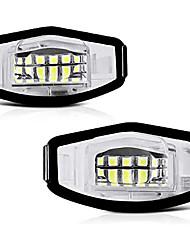 cheap -OTOLAMPARA Diamond 6000K White LED License Plate Light Lamp Assembly Replacement For Honda Accord Sedan/ Odyssey Pilot Civic  Acura MDX TSX TL ILX RDX RL 2pcs