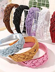 cheap -8 Pcs/set Korean Version Net Red Hair Band Handmade Braid Headband Personality Fashion Temperament Girl Pressed Hair Bundle Hair Accessories Girl