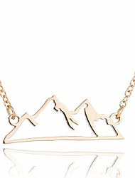 cheap -snowy mountain necklace for women,hiking mountain peak pendant,nature jewelry gift for skiers, hikers, campers, climbers and nature lovers (gold)