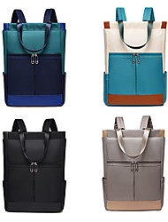 cheap -Commuter Backpacks Nylon Fiber Solid Color for Men for Women for Business Office Waterpoof Shock Proof