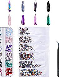 cheap -120 Pcs Multi Shapes Glass Crystal AB Rhinestones For Nail Art Craft Nail Decorations