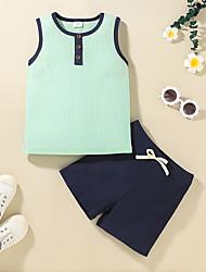 cheap -Kid's Boys' Tank & Cami Shorts 2 Pieces Sleeveless HP10343A HP10343B Multi Color Cotton Basic Chic & Modern Casual