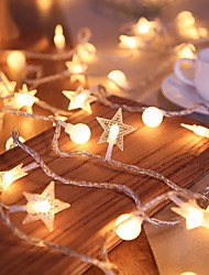 cheap -LED Fairy String Lights Star Small Bulb 1.5M-10LEDs 3M-20LEDs 6M-40LEDs Battery or USB Powered Wedding Christmas Bedroom Holiday Decoration Garland Lamp