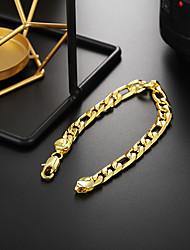 cheap -Men's Women's Chain Bracelet Bracelet Geometrical Precious Fashion Copper Bracelet Jewelry Silver / Golden For Christmas Party Wedding Daily Work / Silver Plated