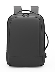 cheap -16 Inch Laptop Commuter Backpacks Canvas Solid Color for Men for Women for Business Office Waterpoof Shock Proof
