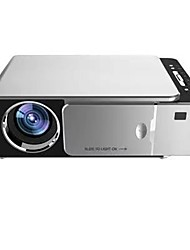 cheap -T6 LCD Projector WIFI Projector Keystone Correction Manual Focus WiFi Bluetooth Projector 720P (1280x720) 3000 lm Compatible with iOS and Android TV Stick HDMI USB