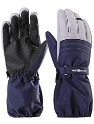 cheap -Ski Gloves Snow Gloves for Boys and Girls Kids Thermal Warm Waterproof Windproof TPU Full Finger Gloves Snowsports for Cold Weather Winter Skiing Snowboarding Cycling