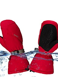 cheap -Ski Gloves Snow Gloves for Women Men Thermal Warm Waterproof Windproof PU Leather Mittens Snowsports for Cold Weather Winter Skiing Snowboarding