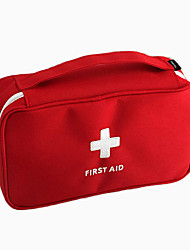 cheap -Large Capacity Cosmetic Medecin Bag Red Portable Washing Bag Portable Travel Cosmetic Case Female Cosmetic Storage Bag 23*7.5*13cm
